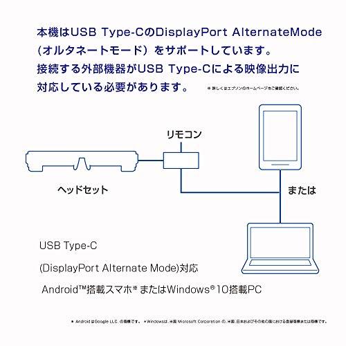 EPSONMOVERIOスマートグラスAndroidスマホ直結モデルBT-30C
