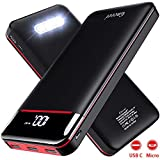Power Bank Portable Charger 25000mAh,High Capacity with LED Digital Display and LED Lights, 3 USB Output & Dual Input, External Battery Pack for All <span class='highlight'>the</span> Smart phone go pro Nitindo and More device