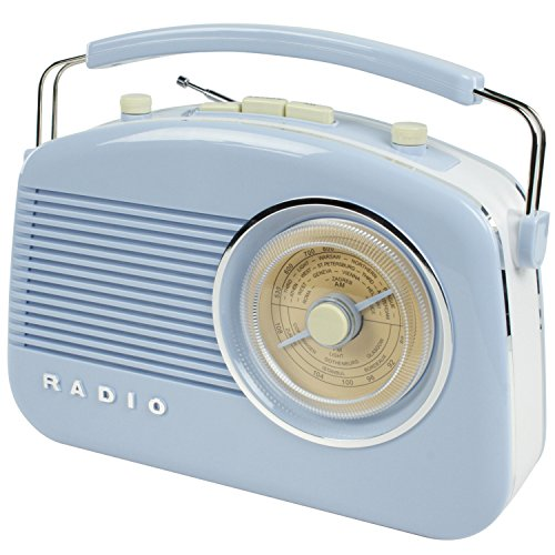 Radio retro portátil analógica König HAV-TR710BU- AM,FM, 87,5 - 108 MHz, 525 - 1615 kHz, 1,5 W
