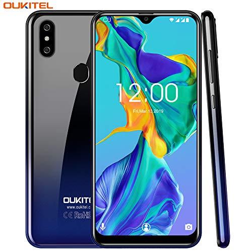 """Cellulari Offerte, OUKITEL C15 PRO+ Dual 4G Smartphone,6.1"""" 19:9 HD+ Schermo,3GB RAM+32GB ROM,Quad-Core Android 9.0 256GB EspandibiliTelefonia Mobile,8MP+5MP+2MP,3200 mAh(supporto WiFi 5G)-Gradiente"""