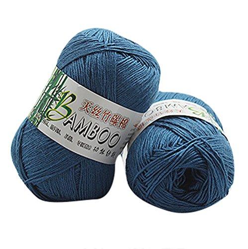 Gaddrt Hand-Woven Bamboo Cotton Yarn Kiting Wool, Warm Soft Natural Knitting Crochet Knitwear Wool Yarn (B)