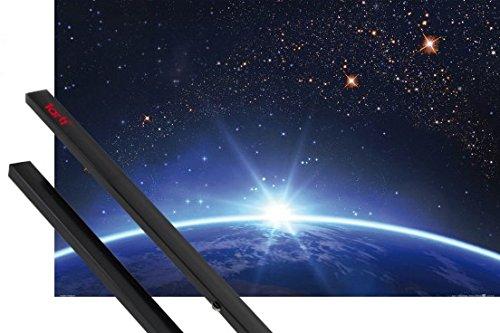 1art1 Cosmos Y Universo Póster (91x61 cm) Cielo Estelar sobre El Horizonte De La Tierra Y 1 Lote De 2 Varillas Negras