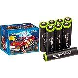 Playmobil Bomberos - Coche jefe con luces y sonidos, playset (5364) y 8 pilas recargables...