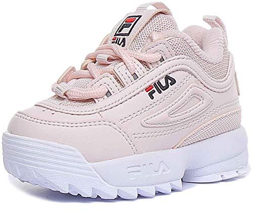 Fila Disruptor Turnschuhe für Mädchen aus rosa Leder 1010826.71Y