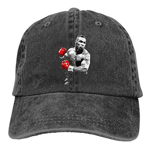 Alicoco Unisex Mike-Tyson Boxing Legend Popular Sombrero de Vaquero de Mezclilla Ajustable para Adultos Casquette