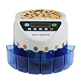 Techlifer GBP Coin Counter Sorter 45W Electronic Automatic UK GBP Coin Counting Machine