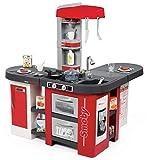 Smoby Studio XXL Cucina Bubble con 38 accessori, simula l'effetto dell'acqua che bolle, frigorifero, forno, lavastoviglie, dispenser del ghiaccio, macchina del caffè, Colore rosso, 7600311025