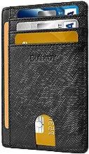 Slim Minimalist Leather Wallets for Men & Women - Cross Black