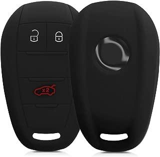kwmobile Car Key Cover for Alfa Romeo - Silicone Protective Key Fob Cover for Alfa Romeo 3 Button Remote Control Car Key - Black