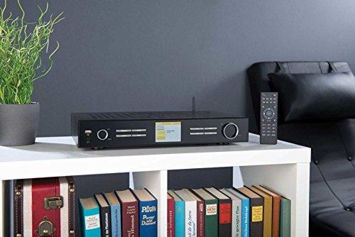 VR-Radio Internet Radio Tuner: WLAN-HiFi-Tuner mit Internetradio, DAB+, UKW, Streaming, MP3, schwarz (Internet Tuner für HiFi-Anlage)