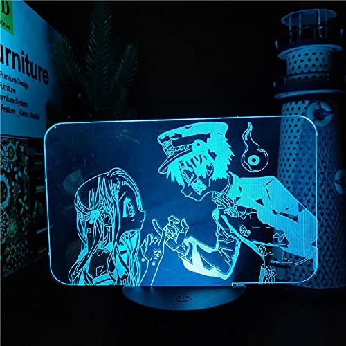Wc Bound Hanako kun Yahiro Nene Pinky Promise LÁMPARA DE ANIME 3D Luces de noche que cambian de color LED Lampara, Regalo de Navidad Luces de noche LED