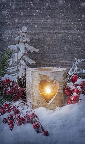 i.stHOME Textilposter Weihnachten Deko Banner Laterne - Poster Stoff 90 x 180 cm Wanddeko modern, Ladendeko, Weihnachtsdekoration
