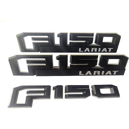 MAX WHOLESALE Pair F150 Lariat Fender Side Badge Nameplate Emblems Red /& Black Pair Set for Ford F-150 Pickup