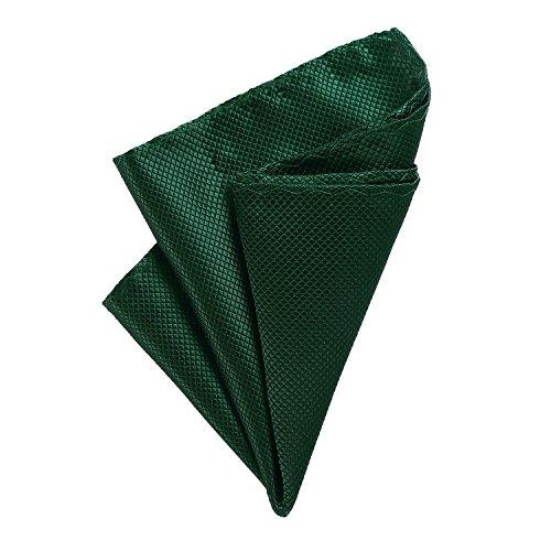 DonDon fazzoletto da taschino 21 x 21 cm per uomo adatto ad occasioni cerimoniali - verde