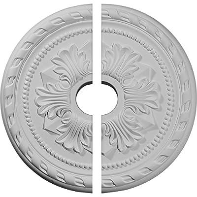 Ekena Millwork 20 7/8-Inch OD x 3 5/8-Inch ID x 1 5/8-Inch P Palmetto Ceiling Medallion