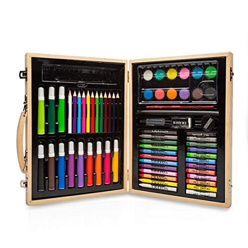 MARSACE 68-teiliges Buntstifte Set, Farbstifte, Wasserfarben, Ölkreide und viel Zubehör Premium Malset Make-up-Gesichtsfarbe-Sticks, für Kinder, Kleinkinder, Party, Cosplay