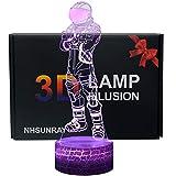 3D Lámpara de Escritorio NHSUNRAY 7 colores LED Touch lámpara de mesa con control remoto para niños cumpleaños regalo de San Valentín de Navidad (Viajero oscuro)