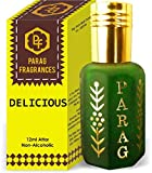Parag Fragrances Delicious Attar 1 Tola / 12 ml (Crystal Series) (oferta de lanzamiento de tiempo limitado) attar natural destilado/attar sin alcohol/aceite de perfume de larga duración