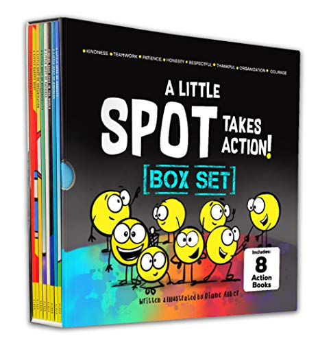 A Little SPOT Takes Action! Box Set (8 Books: Kindness, Responsibility, Patience, Respect, Honesty, Organization, Diversity, & Safety)