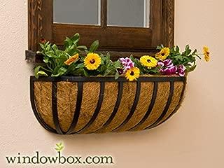 XL English Garden Hay Rack Window Basket w/Coco Liner - 48 Inch