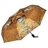 VON LILIENFELD Paraguas Bolsillo Plegable Ligero Estable Apertura y Cierre Automático Compacto Amor Arte Gustav Klimt: Adele