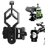 顕微鏡 望遠鏡 双眼鏡 単眼鏡レンズアダプター、携帯電話カメラアダプター、マウントホルダー、スマートフォンクリップ