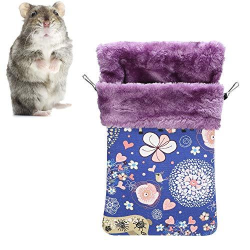 Slaapzak voor huisdieren, dikker flanellen canvas Slaapzak voor kleine huisdieren Warm hangend Comfortabel nestbed voor kleine dieren Eekhoorns Hamster(M)