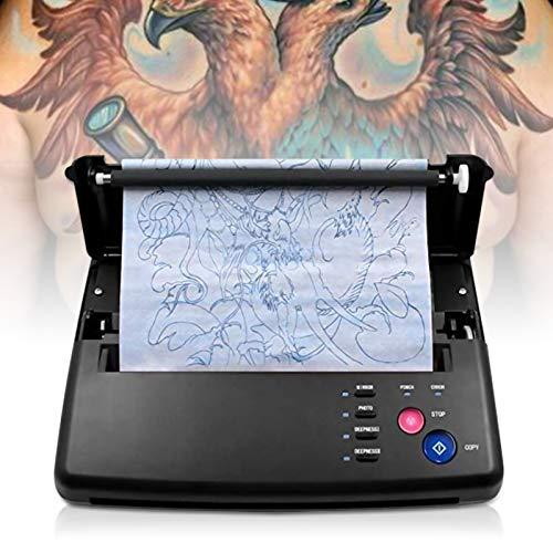 KKTECT Stampante per stencil tattoo transfer machine tattoo Forniture per tatuaggi fai da te,con 10 fogli di carta a trasferimento termico
