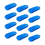 LUTER 12 Pcs Clips de Lona Ideal - Carpa Clip Set Abrazadera Plástico de Cocodrilo Adecuado para Tiendas de Campaña al Aire Libre, Toldo Fijo (Azul)