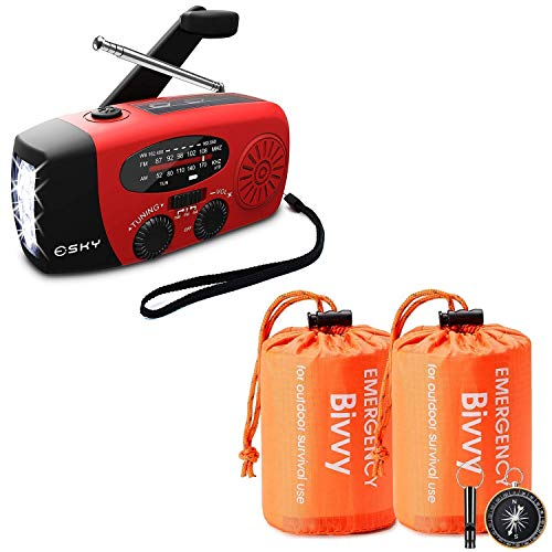 Esky Emergency Weather Radio & Emergency Sleeping Bag