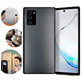 Wingcases for Samsung Galaxy Note 20 Case, Black Anti Gravity Magic Suction Stick on The Mirror Window Smooth Surface Cover with Dust Proof Film