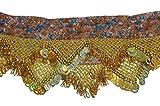 Egyptian Professional Dangling Belly Dance Dancing Costume Belt Egyptian Handmade Hip Scarf Noisy Skirt Wrap Coins Beads 414