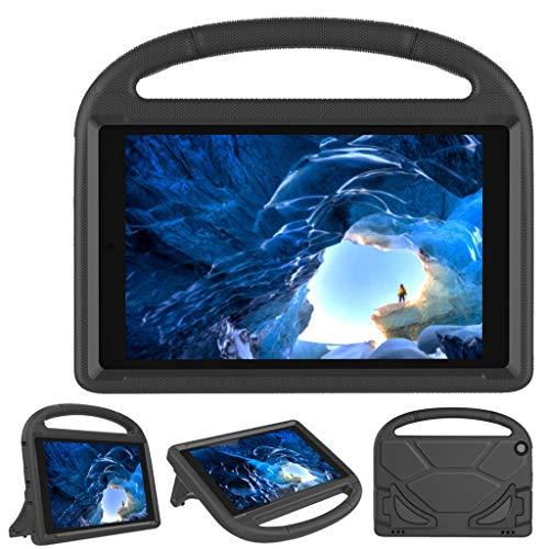 JSxhisxnuid kinderhoes voor Fire HD 10 tablet, Eva stootvast licht beschermende kinderhoes cabrio handvat staander afdekking voor Fire HD 10 tablet