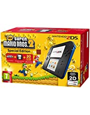Nintendo 2DS Console, Nero/Blu + Super Mario Bros 2 [Bundle Special Edition]