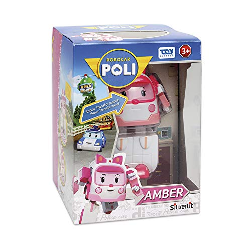 Robocar Poli Amber Transforming Robot, 4' Tramsformable Action Toy Figure