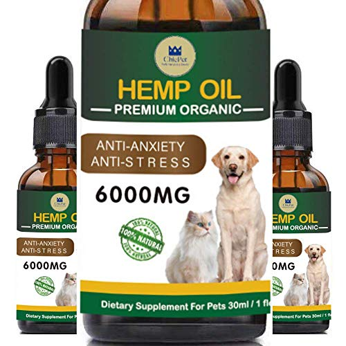 ChicPet Hemp Oil - 6000mg for Dogs, Cats and Pets, Made in UK, Premium Organic Grade Hemp Oil