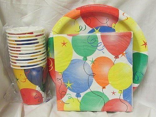 descuento de ventas Happy Birthday Celebration Party Pack - Balloon Theme Theme Theme (Plates, Cups, Napkins) by Party   servicio de primera clase