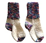 Warme selbstgestrickte Socken für Kinder Größe 16-18 | Wollsocken | Handgestrickt | für Mädchen und Jungen | Babysocken