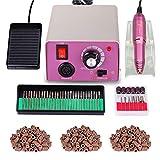Torno para uñas acrilicas Paquete de máquina de pulido de uñas eléctrica profesional de bajo...