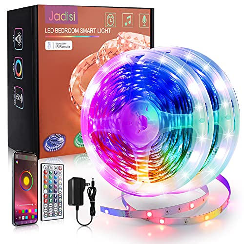 65.6ft Led Strip Lights Jadisi Music Sync RGB Lights Strip Color Changing with App Remote Control...