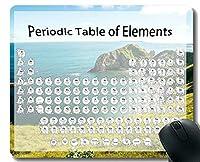 元素の周期表科学化学チャートゲーミングマウスパッド、コーストビーチテーマのマウスマットとステッチエッジ