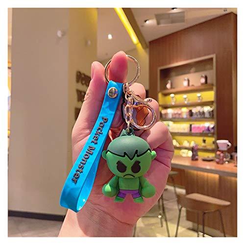 Schlüsselbund Anhänger Niedliche Keychain Cartoon Iron Man Hulk Captain America Auto Schlüsselanhänger Kinder Tasche Anhänger Schlüsselanhänger Freunde Geschenk (Color : 5)