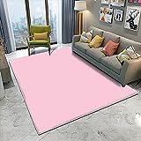 WZZSKE Alfombras Salon Grandes Modernas ultrasuaves y Grandes Antideslizantes para Dormitorio y Sala de Estar Estilo conciso Femenino Rosa Puro Alfombra Tamaño: 60 x 90 cm