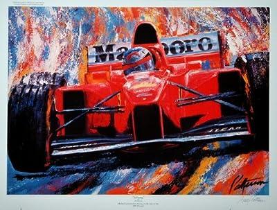 Schumy- Michael Schumacher Formula One Press Proof Racing Print