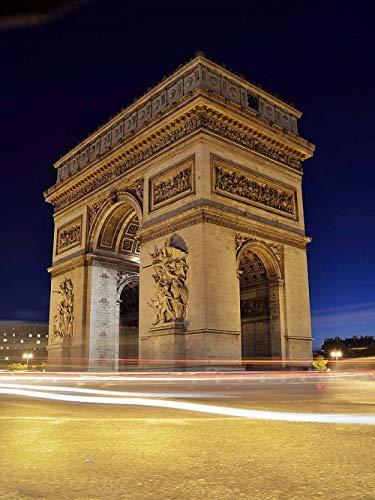 Yzqxiongtu Rompecabezas del Arco de Triunfo de París 1000 Piezas, Rompecabezas de paisajes de Madera, Rompecabezas de Adultos en 2D para niños Adolescentes