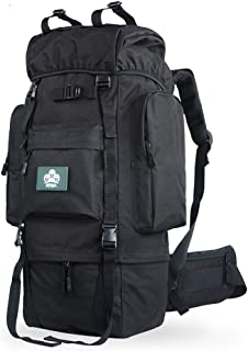 Outdoor Backpack Shoulder Bag Mountaineering Bag Men and Women Large Capacity Waterproof Travel Hiking Rucksack 65Ll100L QYLOZ (Color : Black, Size : 95m×43m×25cm)