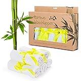 Toallitas de bambú Pack de 5 toallitas para bebés 25 x 25 cm Toallitas muy...