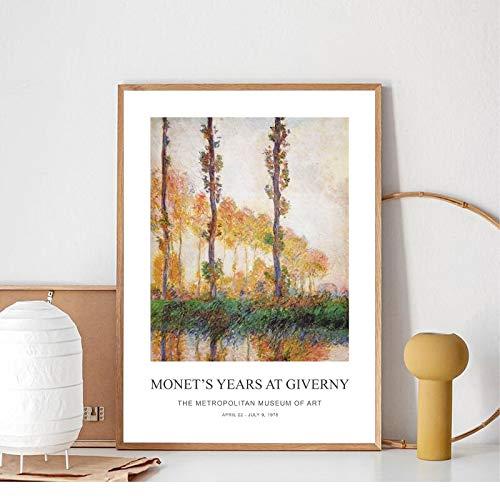 Claude Monet Arte De Pared De Lienzo Paintings Posters e impresiones Cuadros de pared modernos para la sala de estar Decoraciones nórdicas para el hogar 40x60cm 16 'x24' Sin marco