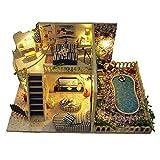 Hearthrousy DIY Puppenhaus Miniaturhaus Kit 3D Bausatz Holz Modell Set mit LED Licht Kunsthandwerk...