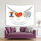 Henge Home Tapiz impreso de arte deportivo para el hogar, sala de estar, dormitorio, decoración duradera para colgar en la pared – I Love Golf Colorfu